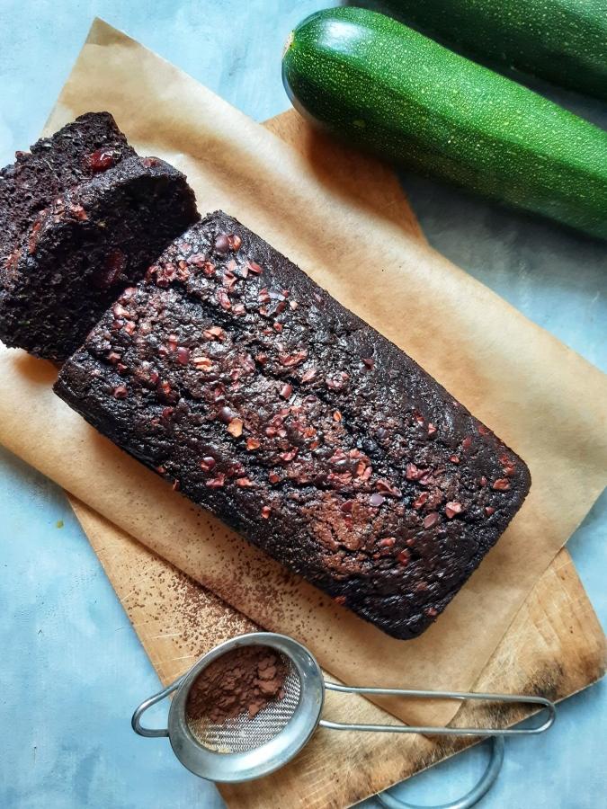 Chec cu zucchini si ciocolata (Zucchini Bread) | Vegan, Fara Gluten